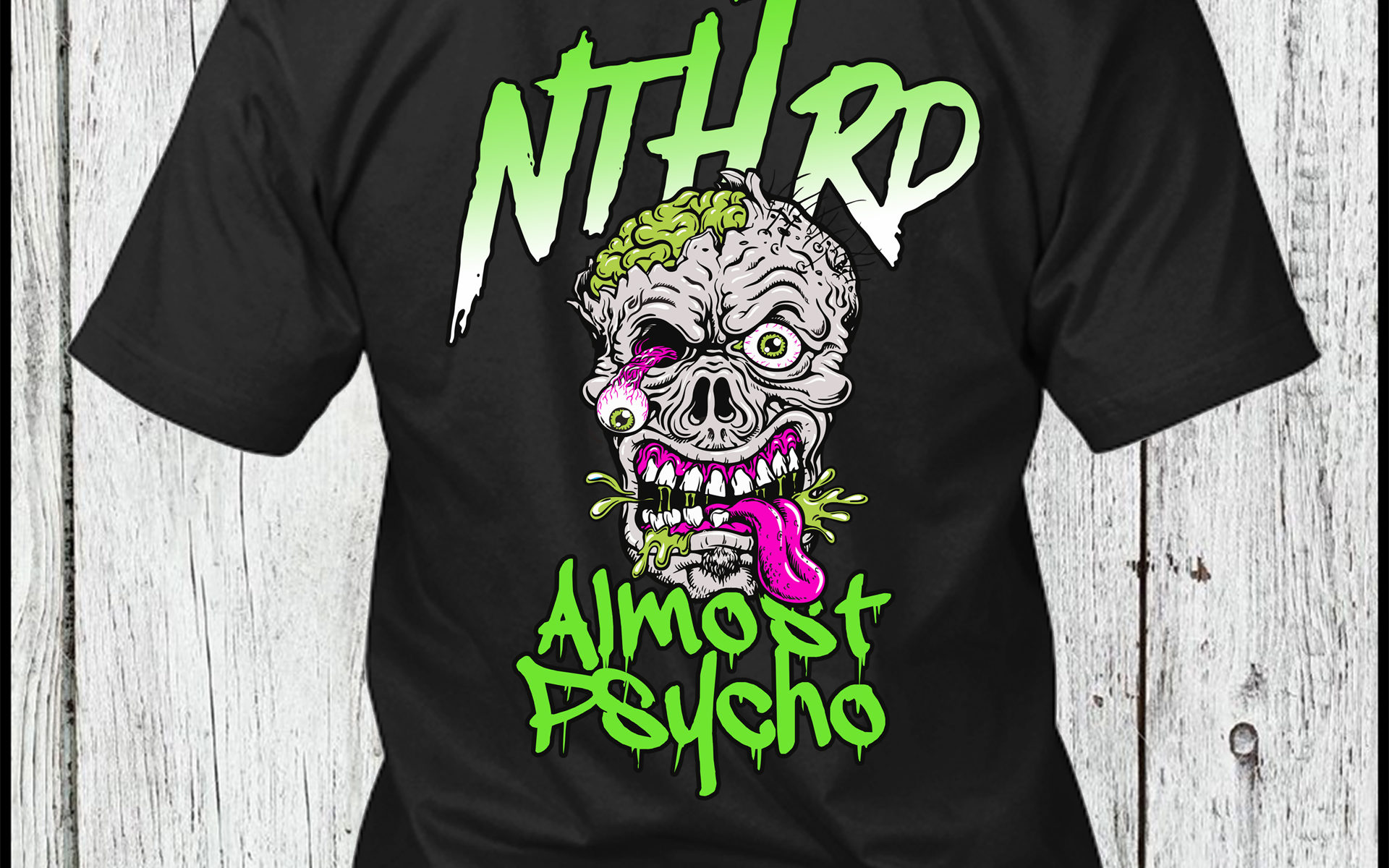 Nth Rd band black tshirt back